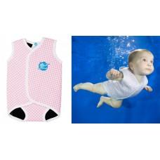 Splashabout - Babywrap - Pink Gingham M 6 - 18 mths