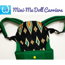 Doll Carrier - Green Batik