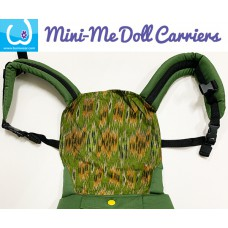 Doll Carrier - Green Batik 2