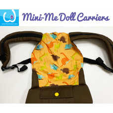 Doll Carrier - Orange Dino
