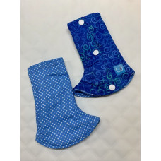 Bumwear: Drool Pads - Blue Polka & Zentangle