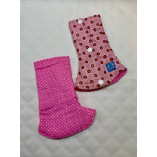 Bumwear: Drool Pads - Lots of Love & Pink Polka