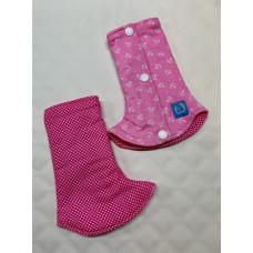 Bumwear: Drool Pads - Pink Polka & Anchor