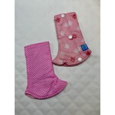Bumwear: Drool Pads - Pink Polka & Teatime