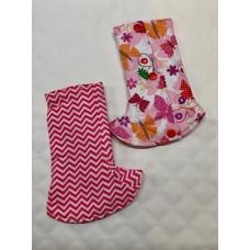 Bumwear: Drool Pads - Pink Ziggy & Butterflies