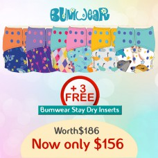 Bumwear: Cloth Diapers - Package of 6 Diapers