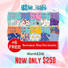 Bumwear: Cloth Diapers - Package of 10 Diapers