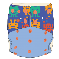 BW Cloth Diapers - Lego Monsters