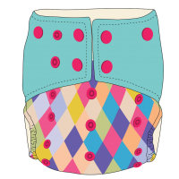 Bumwear: Cloth Diapers - Mermaid's Scales
