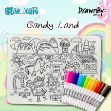 Drawn By Jessica: Washable Silicone Colouring Mat - Candy Land