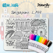 Drawn By Jessica: Washable Silicone Colouring Mat - Singapore LAH!
