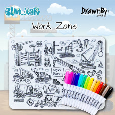 Drawn By Jessica: Work Zone Washable Silicone Colouring Mat