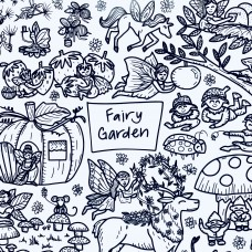 Drawn By Jessica Fairy Garden Washable Silicone Colouring Mat