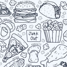 Drawn By Jessica Junk Out Washable Silicone Colouring Mat