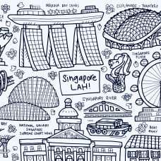 Drawn By Jessica Singapore LAH! Washable Silicone Colouring Mat