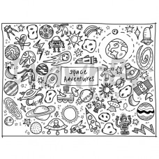 Drawn By Jessica Space Adventures Washable Silicone Colouring Mat