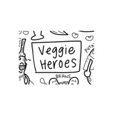 Drawn By Jessica Veggie Heroes Washable Silicone Colouring Mat