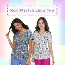 Koi: Stretch Luna Top
