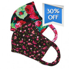 Koi: Face Mask - Betsey Johnson Ditsy Floral Raspberry / Bloomerang Floral (2pcs)
