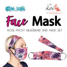 Koi: Face Mask + Headband Set - Rose Frost