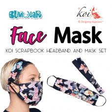 Koi: Face Mask + Headband Set - Scrapbook