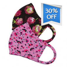Koi: Face Mask - Betsey Johnson Rose Garden / Ditsy Floral Light Orchid (2 pcs)