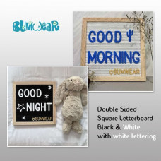 Square Felt Letterboard - Black & White