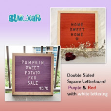 Square Felt Letterboard - Purple & Red