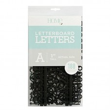 American Crafts: 1 Inch Letters - Black