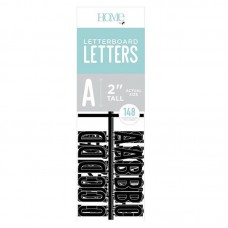 American Crafts - 2 Inch Letters - Black