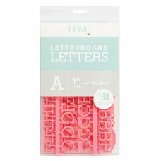 American Crafts: 1 Inch Letters - Coral