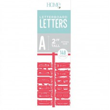 American Crafts - 2 Inch Letters - Coral