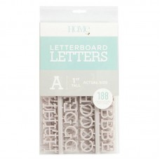 American Crafts - 1 Inch Letters - Gray