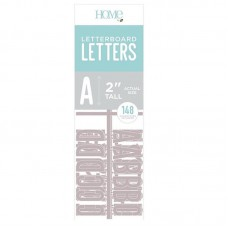 American Crafts - 2 Inch Letters - Gray