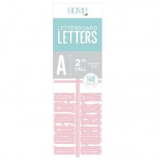 American Crafts - 2 Inch Letters - Pink