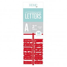 American Crafts - 2 Inch Letters - Red