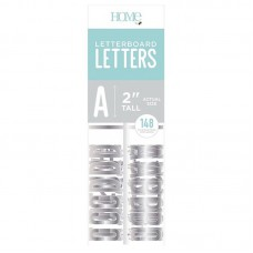 American Crafts: 2 Inch Letters - Silver