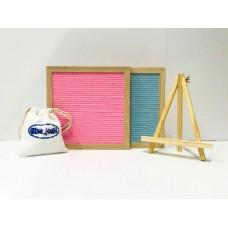 Square Felt Letterboard - Pink & Blue