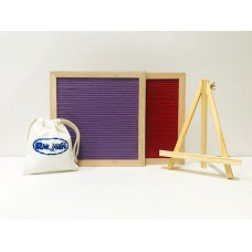 Square Felt Letterboard - Purple & Red