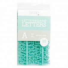 American Crafts - 1 Inch Letters - Teal