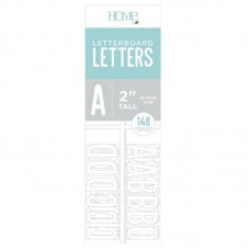 American Crafts: 2 Inch Letters - White