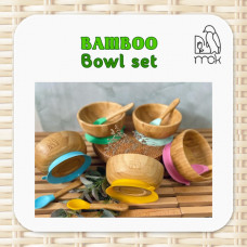 My Chill Kitchenette: Bamboo Bowl Set (With Suction)