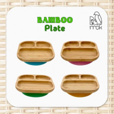 My Chill Kitchenette: Bamboo Plate (With Suction)