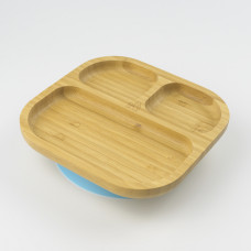 My Chill Kitchenette: Bamboo Plate (With Suction) - Blue