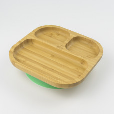 My Chill Kitchenette: Bamboo Plate (With Suction) - Green
