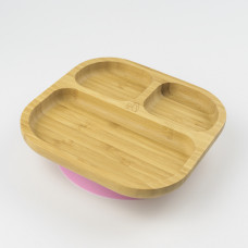 My Chill Kitchenette: Bamboo Plate (With Suction) - Pink