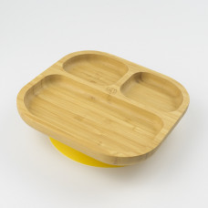 My Chill Kitchenette: Bamboo Plate (With Suction) - Yellow