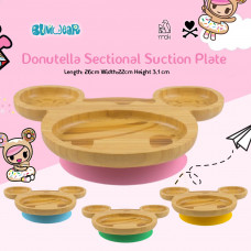 My Chill Kitchenette: Donutella Bamboo Plate (With Suction)