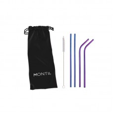 Montiico: Straws - Stainless Steel Straw Set (4 Pieces)