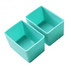 Munchbox: Munch Cups - Aqua Rectangle (2 pieces)